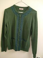 Brooks Brothers Green Button Up Knit Cardigan Sweater Size Small