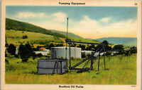 Pumping Equipment Bradford Oil Fields PA Vintage Postcard BB1