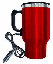 16oz Stainless Steel Red Coffee Mug 12V Car / Coffee Mug, Portable Coffee Warmer