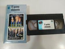 El Quinto Elemento Luc Besson Bruce Willis Jovovich - VHS Cinta Tape Español