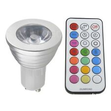 3W GU10 85-265V 16 Colors RGB Led Bulb Lamp Spot Light Multicolor Remote Control