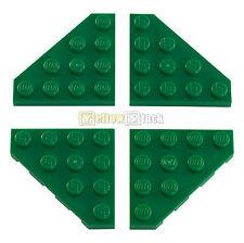 4x LEGO® 30503 4x4 Eck-Platte Flügel grün green NEU