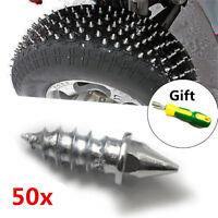 50x Schneeketten Winterreifen Metall Reifen Nagel Niete Spike + Montage Werkzeug