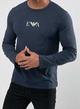Emporio Armani Mens Navy Blue Long sleeve E.A. T shirt Size M, L, XL Slim