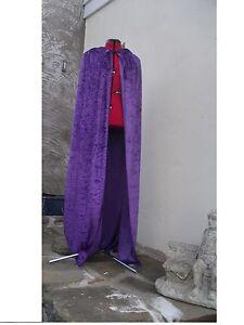 crushed velvet hooded cape 2  lengths AVAILABLE  several colours  overlocked
