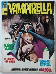 VAMPIRELLA N° 18 HORROR ARGENTINA COVER EDITORIAL MAZZONE 1973