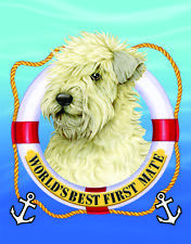 Soft Coated Wheaten Terrier World's Best First Mate Decorative Flag