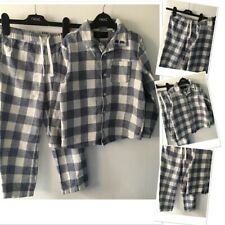 Next Boys brushed Cotton Checked Pyjamas Set 5-6 Years used