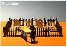 CIMITERO STACCIONATA PIETRE TOMBALI FENCE Lapidi WEST PLAYMOBIL NO INCLUSO
