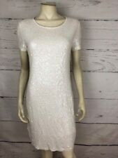 Michael Kors Women's Size M White Full Sequin Fully Lined Shift Dress F34