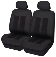 PAIR PANELLED LEATHER LOOK SEAT COVERS FOR TOYOTA SUPRA