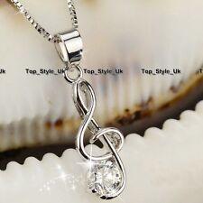 La vendita natale regali per ragazze musica collane di cristallo per le donne fidanzata moglie T8