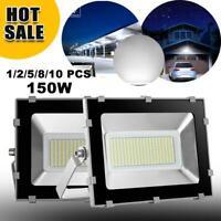 150W LED Flood Light Cool White Outdoor Spotlights Garden Yard Security Lamp