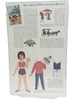 1964 VINTAGE BETSY MCCALL WRITES FROM THE BAHAMAS PAPER DOLLS UNCUT UNUSED