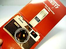 Canon Canonet G-III 17 rangefinder camera Sales Brochure Guide English Add