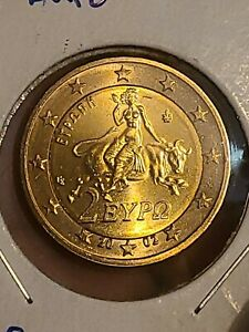 Greece 2 euro  2002 s Abduction of Europe by Zeus  KM# 188  UNC ....Proof?