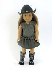 "4 Piece Cowgirl Outfit with Boots & Hat Fits American Girl Dolls-18 "" Dolls"