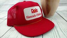 Vintage Dale Hancock Fidelity Trucker Hat Red Mesh Snapback Cap