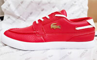 Lacoste Brand Bayliss Deck 0921 Men's Fashion Casual  Shoes Sneakers Red White
