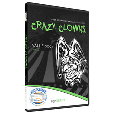 CLOWNS CLIPART DESIGNS-VINYL CUTTER PLOTTER IMAGES-VECTOR CLIP ART GRAPHICS CD