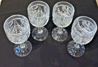 HOFBAUER BYRDES COLLECTN LOT OF 4 GOBLETS PRESSED/PATTERNED GLASS CraftedGermany