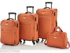 Travelite Reise Koffer Derby S 51 M 67 L 77 cm o. Set 2-4 Rollen Orange