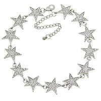 Rhinestone Star Collar Choker Necklace Statement Jewelry luxury Women NecklacTW