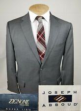 Jospeh Abboud Mens Sport Coat 42S Gray Blazer Jacket Zignone Super 110s 2 Btn