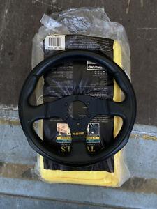 MOMO Team 280mm Classic Black Leather Steering Wheel TYP D 30 KBA 70225