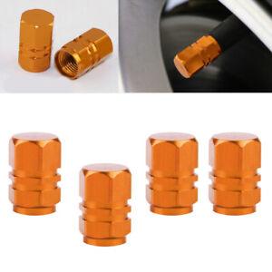 4pcs Orange Car Auto Wheel Tire Tyre Air Valve Stem Caps Cover Car Accessories
