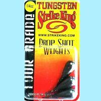 Strike King Tungsten Tour Grade 1/4 oz. Drop Shot Sinker Weights (3 per package)