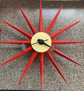 "Vitra George Nelson, ""Sunburst"" Wall Clock, Dia 47cm"