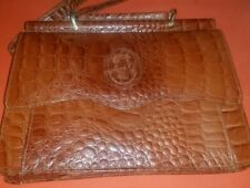 Vintage Cartier Crossbody Burgundy Leather Croc Handbag/Purse