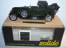 SOLIDO 149 RENAULT 40 CV H6B 1926 NEW MODEL CAR WITH BOX & DISPLAY CASE, On Sale