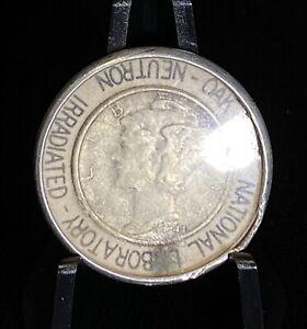 1944 Silver Mercury Dime American Museum Atomic Energy Neutron Irradiated Dime