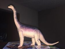 "Vintage 1986 Brachiosaurus Dinosaur Plastic Figure Made By Dormei 10"" x 11' Inch"