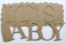 "CREATE a PHRASE - 2"" Elegant Letters w/ Scallop - Custom Chipboard Lettering"