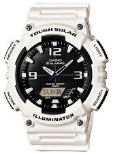 Casio AQS810WC-7A Men's White Band Solar Analog Digital World Time Sports Watch