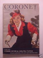 CORONET February 1944 Feb 44 WANDA MCKAY ERNEST HAYCOX HENDRIK WILLEM VAN LOON +