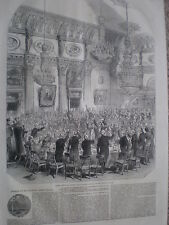 East India Company dinner for Sir Charles James Napier 1849 old print my ref T