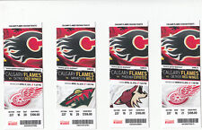 CALGARY FLAMES VS DETROIT RED WINGS FULL TICKET STUB 4/17/13 KIPRUSOFF WIN