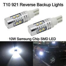 2 x 10W Xenon White 921 T10 T15 Backup Reverse LED Lights Projector Lens Bulbs