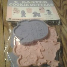 SET OF SIX DETAILED EASTER COOKIE CUTTERS SET NEW IN PACKAGE