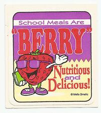 Vintage: MELLO SMELLO Sticker - Mission Nutrition : School Meals are BERRY ...