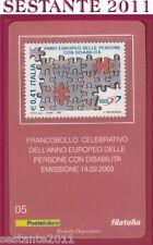 TESSERA FILATELICA FRANCOBOLLO ANNO EUROPEO PERSONE CON DISABILITà 2003 E5