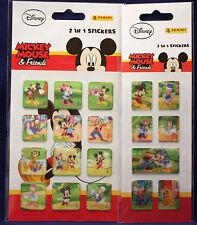 **Mickey Mouse & Friends**2 in 1 Sticker**neu**Panini**