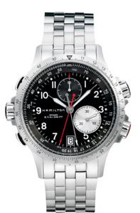 New Hamilton Khaki Aviation ETO Chrono ST Steel Black Dial Men's Watch H77612133