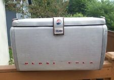 Vintage Pepsi Cola Aluminum Cooler Ice Chest Advertising Beer Soda