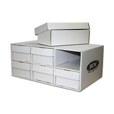 1 Cardboard Sports Card House with Six 2-Row 1600ct Storage Boxes - Stackable