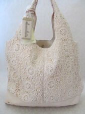 CHOCOLATE NEW YORK BONE COLOR EMBROIDERED SHOULDER TOTE BAG PURSE - NWT